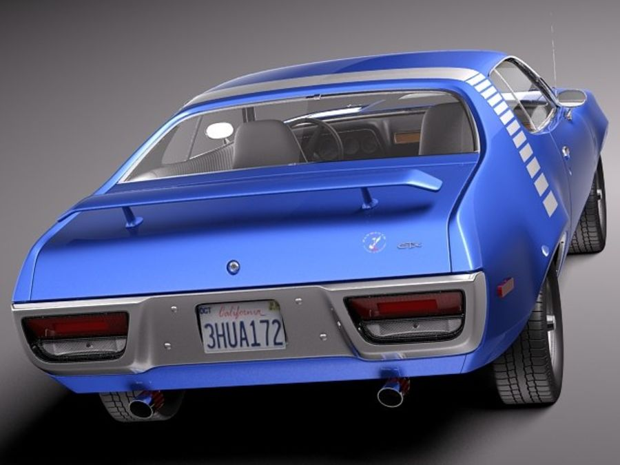 Plymouth Road Runner GTX 1971-1975 royalty-free 3d model - Preview no. 5