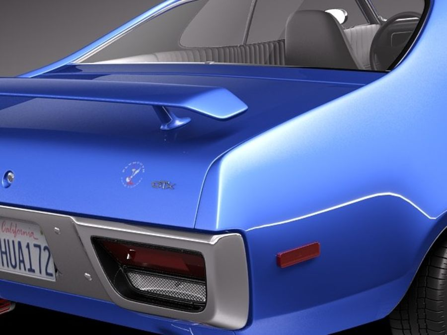 Plymouth Road Runner GTX 1971-1975 royalty-free 3d model - Preview no. 4