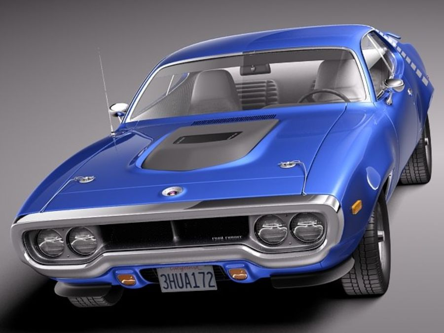 Plymouth Road Runner GTX 1971-1975 royalty-free 3d model - Preview no. 2
