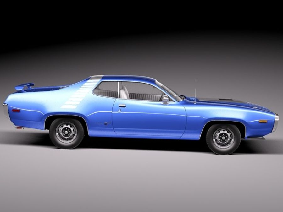 Plymouth Road Runner GTX 1971-1975 royalty-free 3d model - Preview no. 7