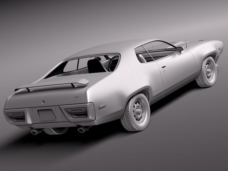 Plymouth Road Runner GTX 1971-1975 royalty-free 3d model - Preview no. 12