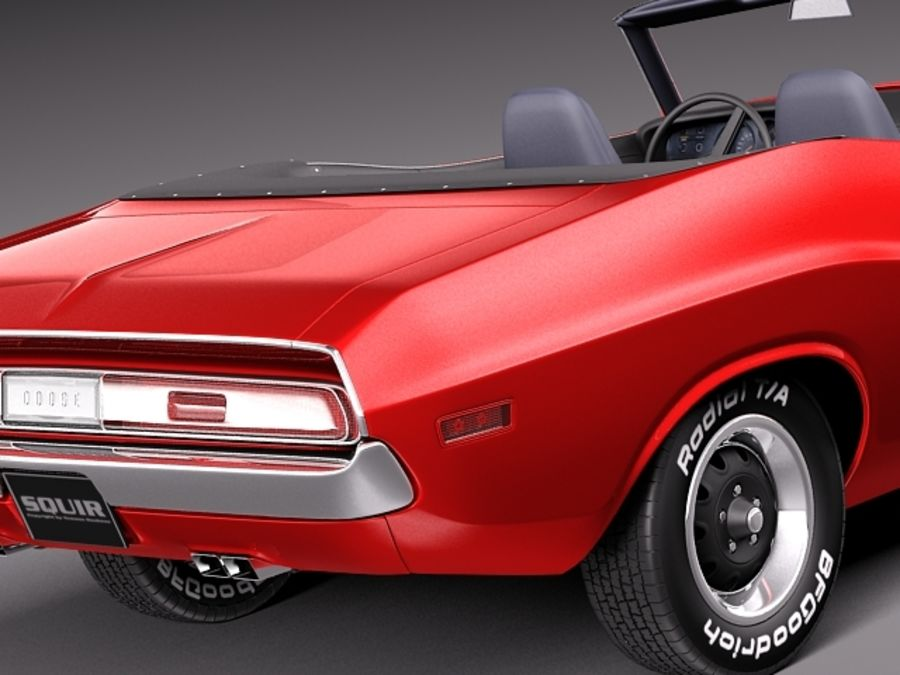 Dodge Challenger 1970 Кабриолет royalty-free 3d model - Preview no. 4