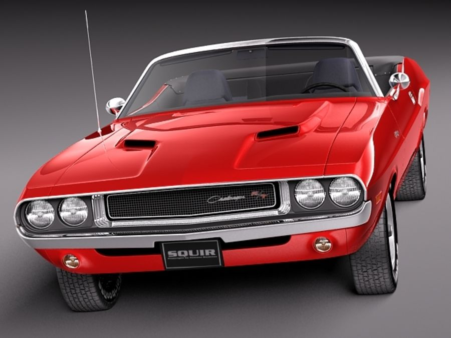 Dodge Challenger 1970 Кабриолет royalty-free 3d model - Preview no. 2