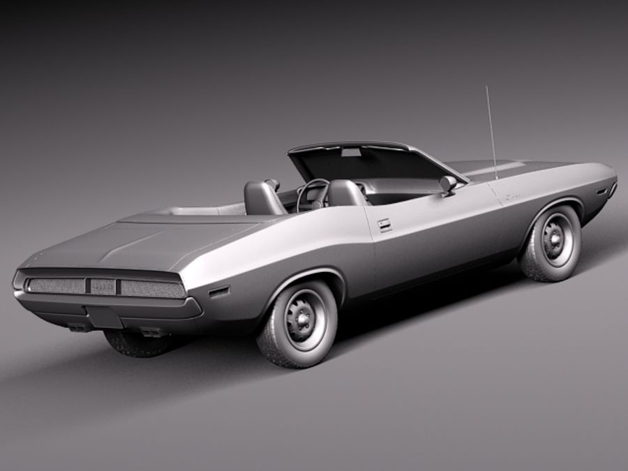 Dodge Challenger 1970 Кабриолет royalty-free 3d model - Preview no. 13