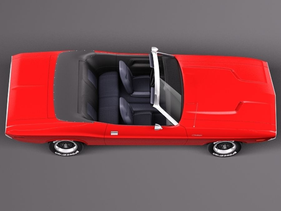 Dodge Challenger 1970 Кабриолет royalty-free 3d model - Preview no. 8