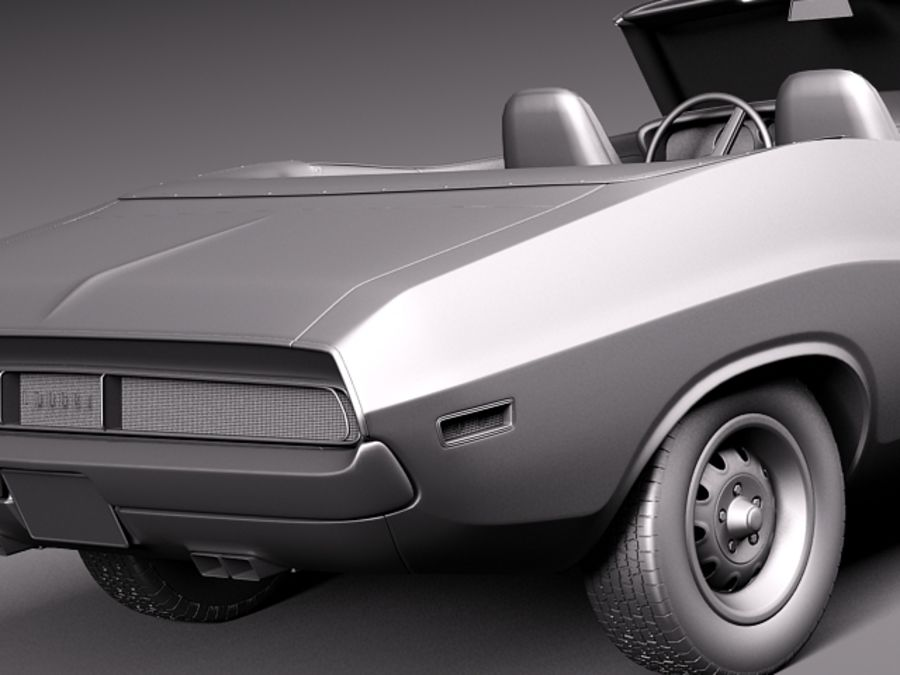 Dodge Challenger 1970 Convertible royalty-free 3d model - Preview no. 12