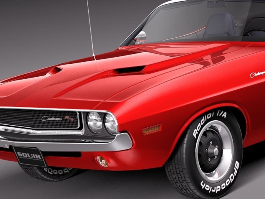 Dodge Challenger 1970 Кабриолет royalty-free 3d model - Preview no. 3