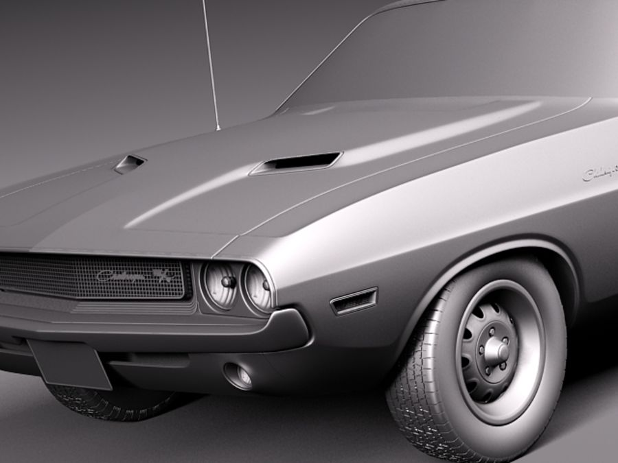 Dodge Challenger 1970 Кабриолет royalty-free 3d model - Preview no. 11