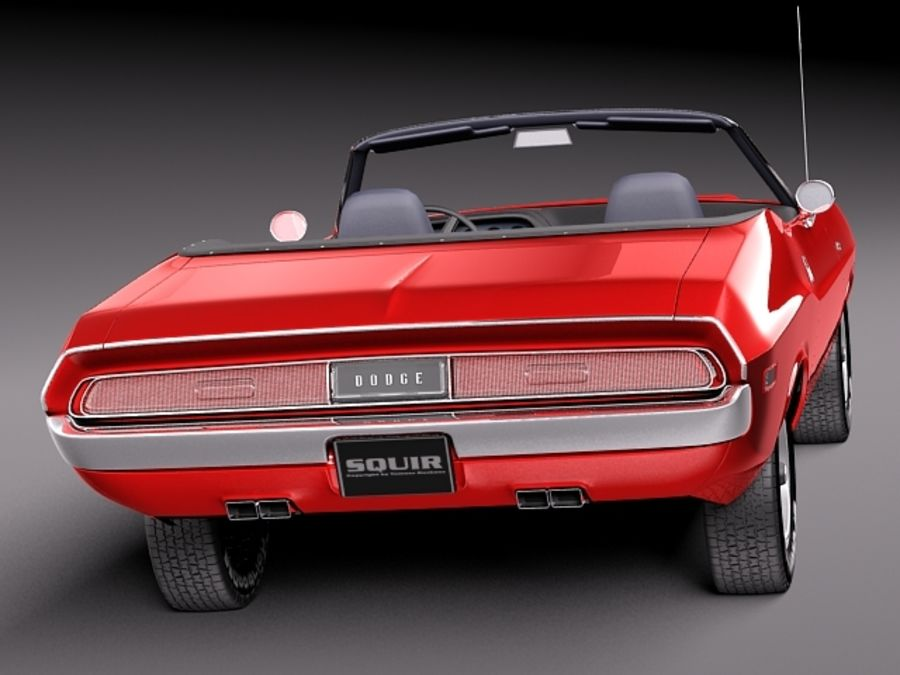 Dodge Challenger 1970 Convertible royalty-free 3d model - Preview no. 6