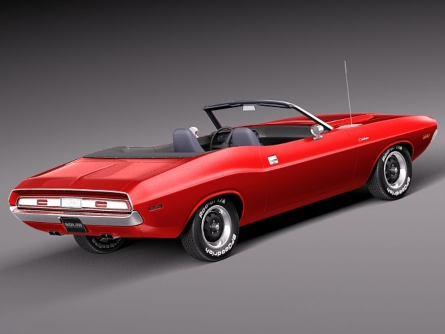 Dodge Challenger 1970 Кабриолет royalty-free 3d model - Preview no. 5