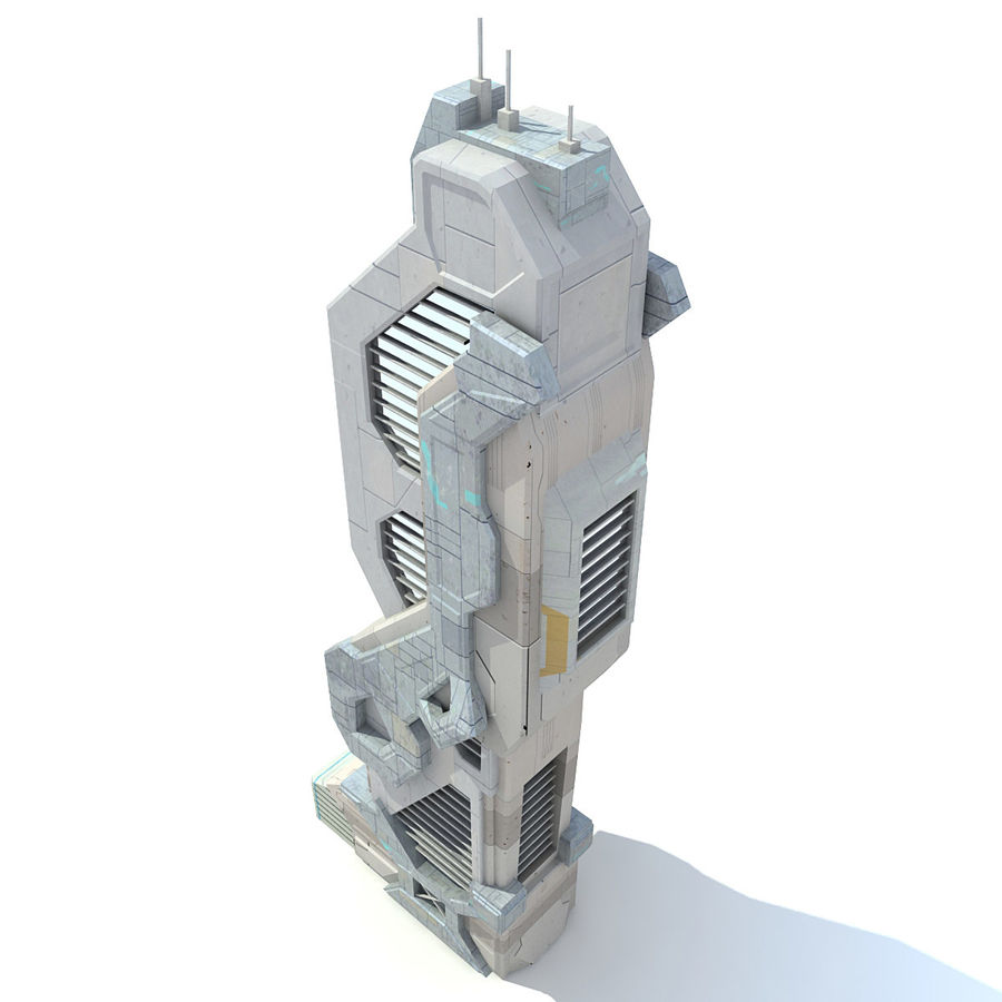 Sci Fi Building Futuristic Modern royalty-free 3d model - Preview no. 5