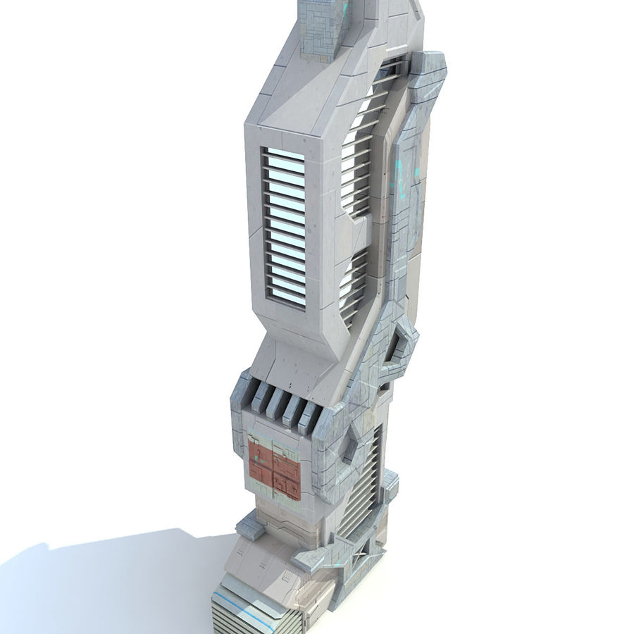 Sci Fi Building Futuristic Modern royalty-free 3d model - Preview no. 6