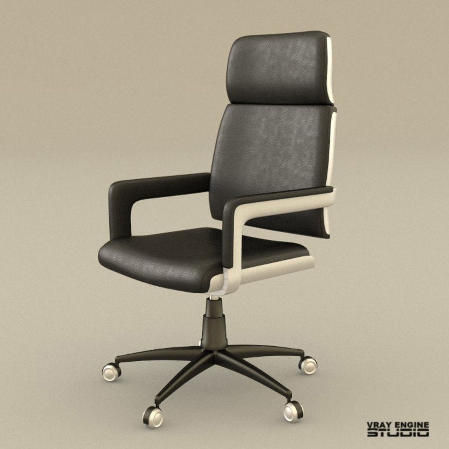 Krzesło biurowe royalty-free 3d model - Preview no. 1