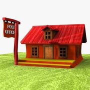 Cartoon Post Office 3d model