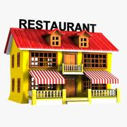Restauracja Cartoon 1 3d model