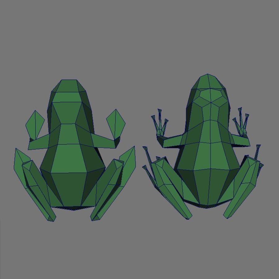 düşük res kurbağa royalty-free 3d model - Preview no. 2