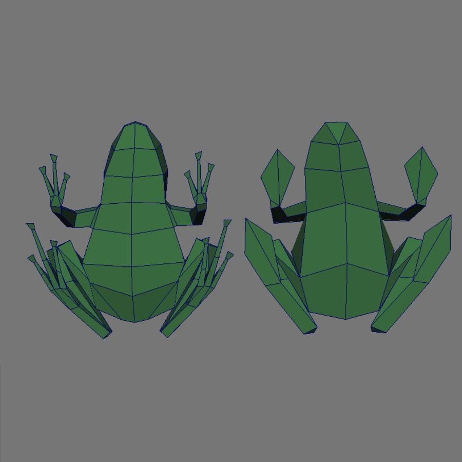 düşük res kurbağa royalty-free 3d model - Preview no. 4