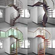 螺旋楼梯包 3d model