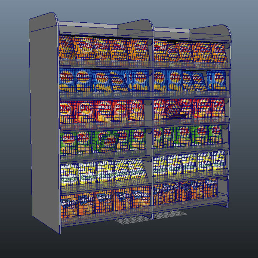 Crisps Display royalty-free 3d model - Preview no. 5