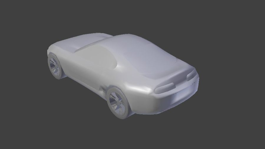 toyota supra royalty-free 3d model - Preview no. 4