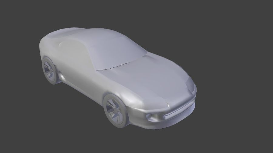 toyota supra royalty-free 3d model - Preview no. 1