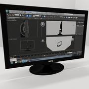 Ekran komputera 3d model