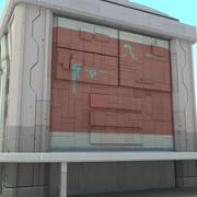 Sci Fi Building futuriste 3d model