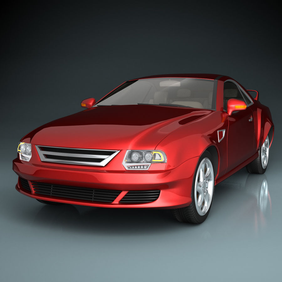 Muscle Car royalty-free 3d model - Preview no. 1