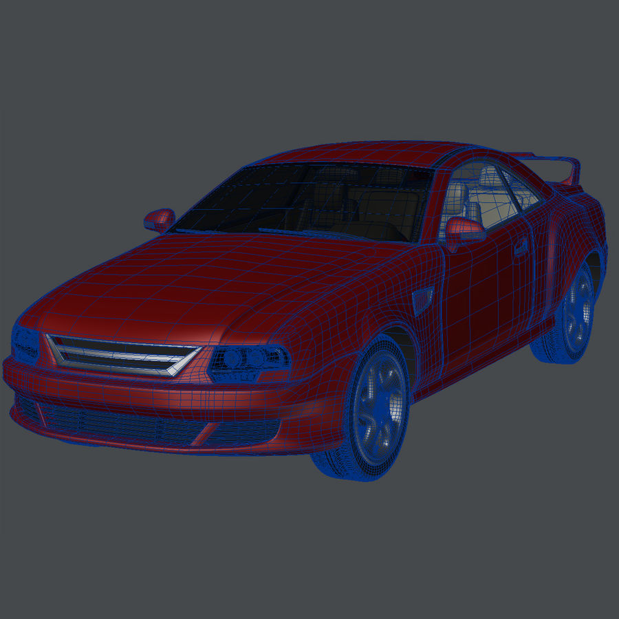 Muscle Car royalty-free 3d model - Preview no. 9