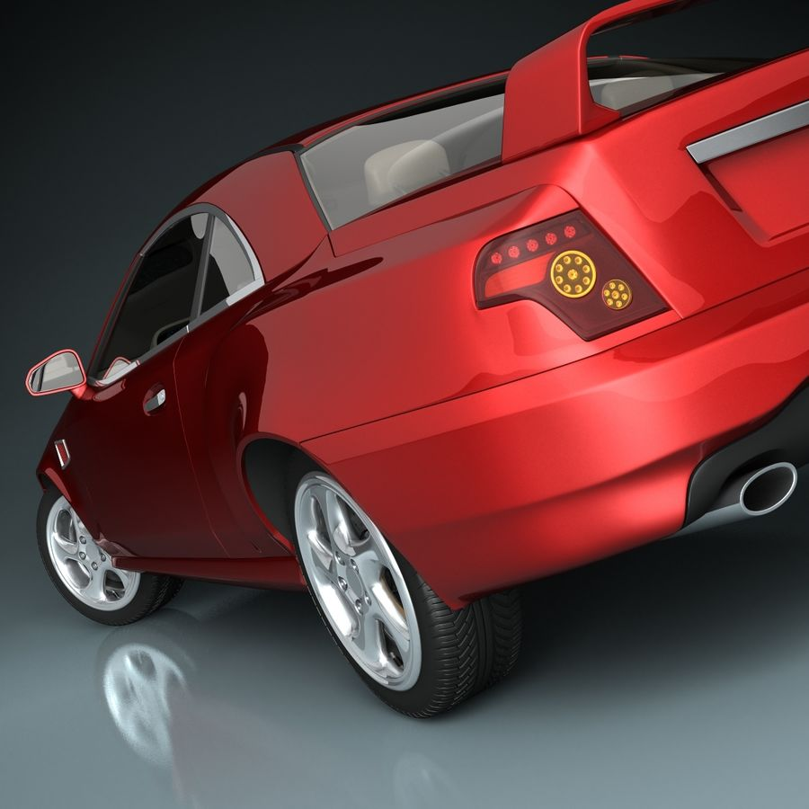 Muscle Car royalty-free 3d model - Preview no. 8