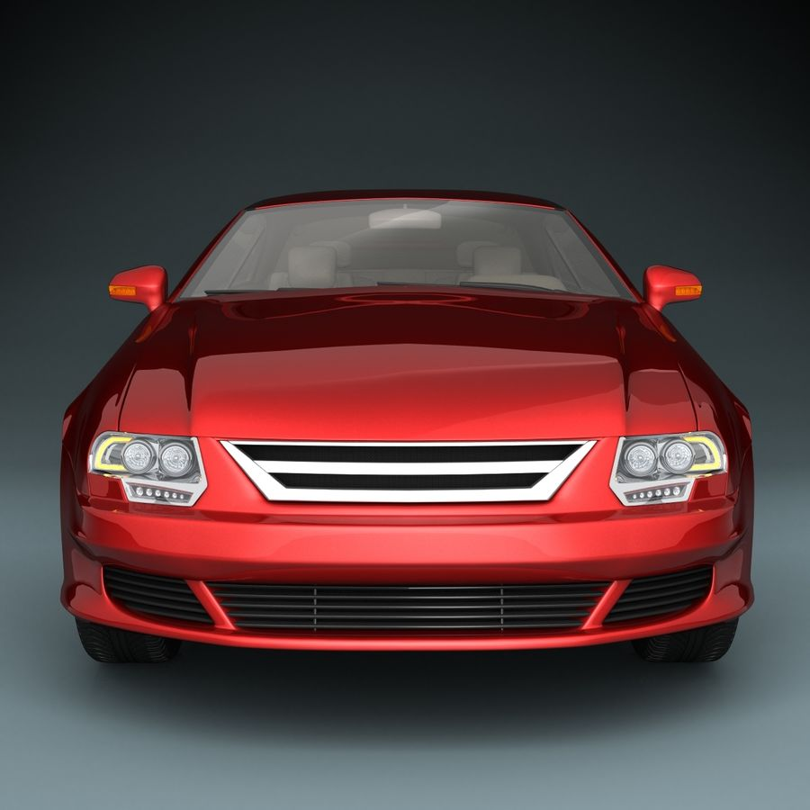 Muscle Car royalty-free 3d model - Preview no. 4
