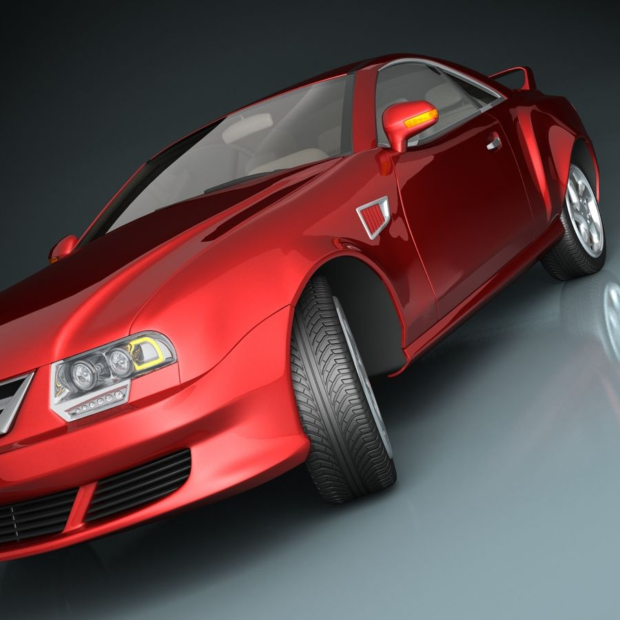 Muscle Car royalty-free 3d model - Preview no. 7