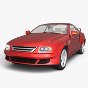 肌肉车 3d model