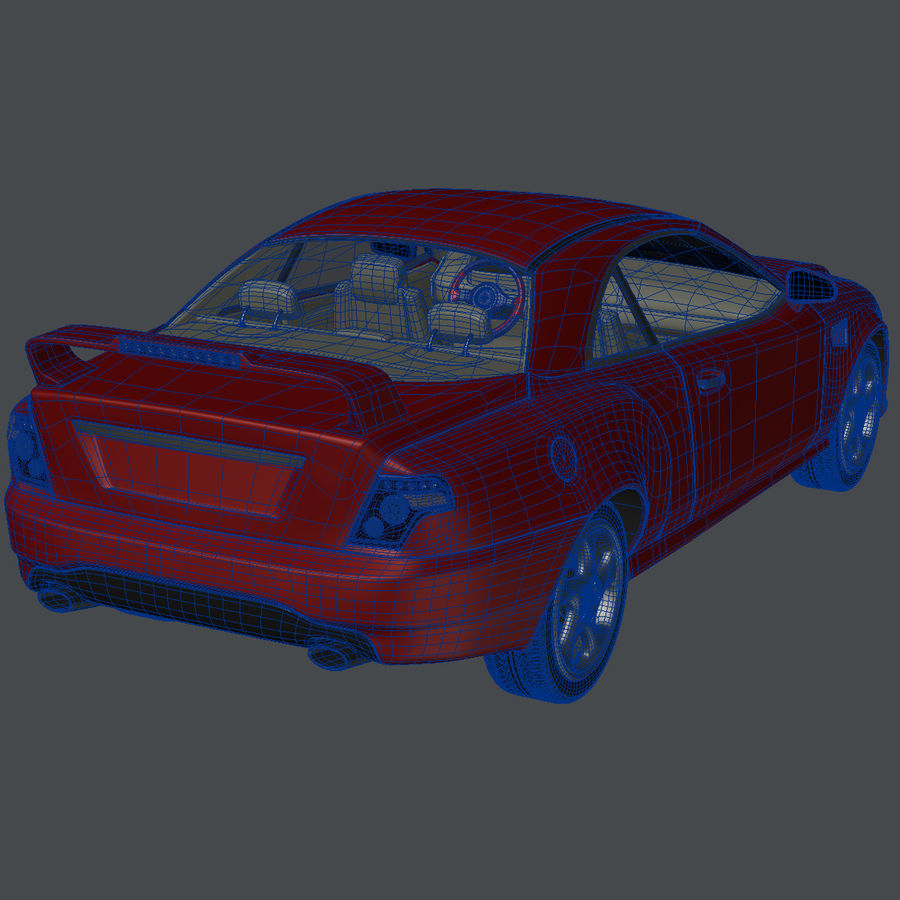 Muscle Car royalty-free 3d model - Preview no. 10
