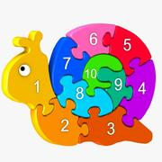 蜗牛拼图玩具 3d model