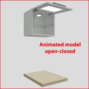 厨房家具45厘米玻璃门orizontal 1 3d model