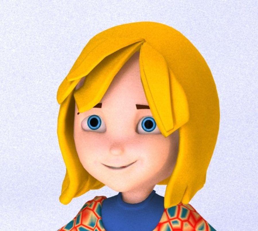 ragazza dei cartoni animati royalty-free 3d model - Preview no. 3