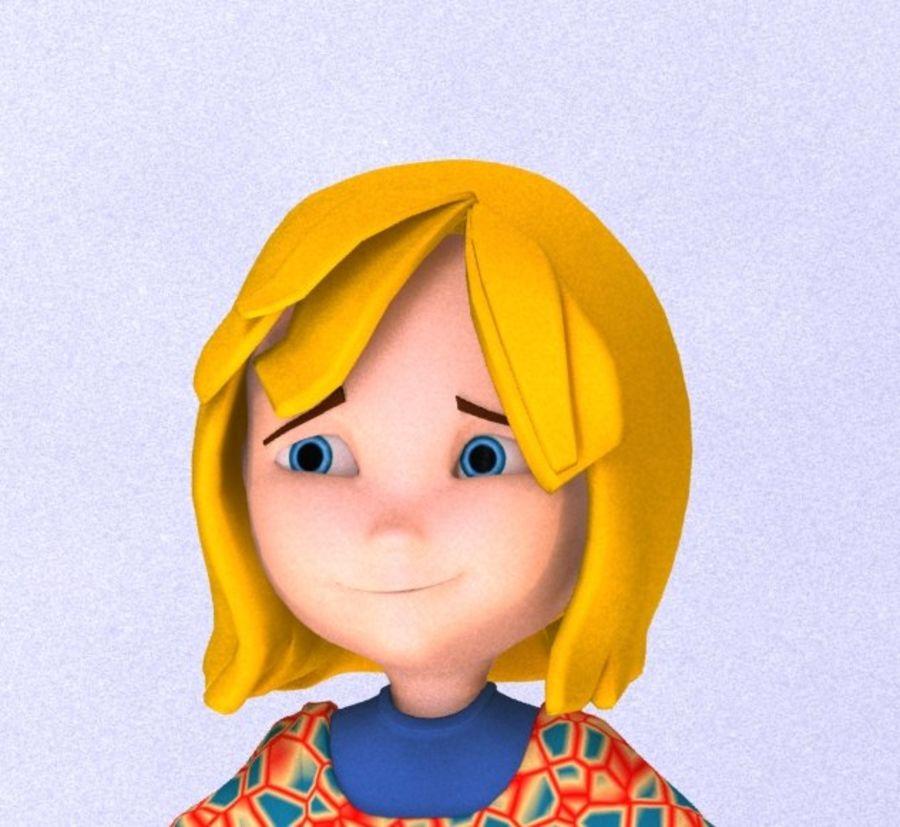 ragazza dei cartoni animati royalty-free 3d model - Preview no. 2