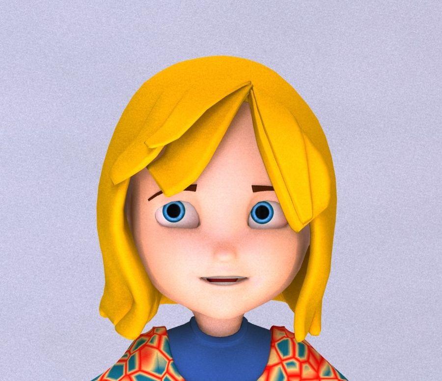 ragazza dei cartoni animati royalty-free 3d model - Preview no. 7