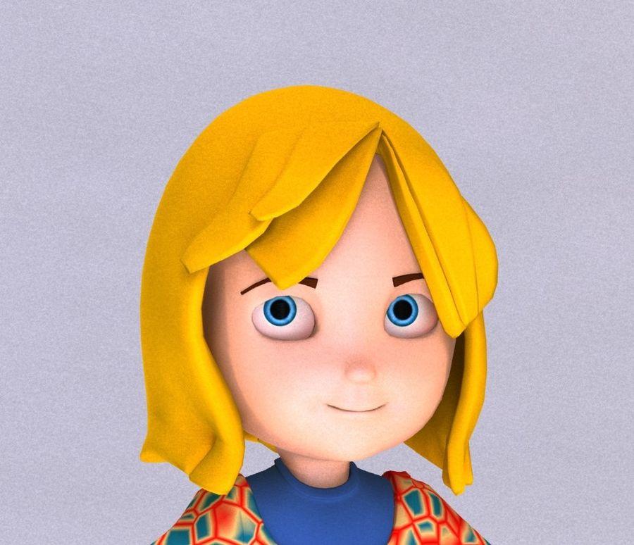 ragazza dei cartoni animati royalty-free 3d model - Preview no. 5