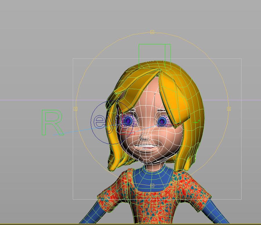 ragazza dei cartoni animati royalty-free 3d model - Preview no. 18