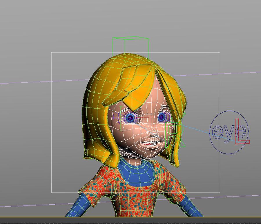 ragazza dei cartoni animati royalty-free 3d model - Preview no. 17