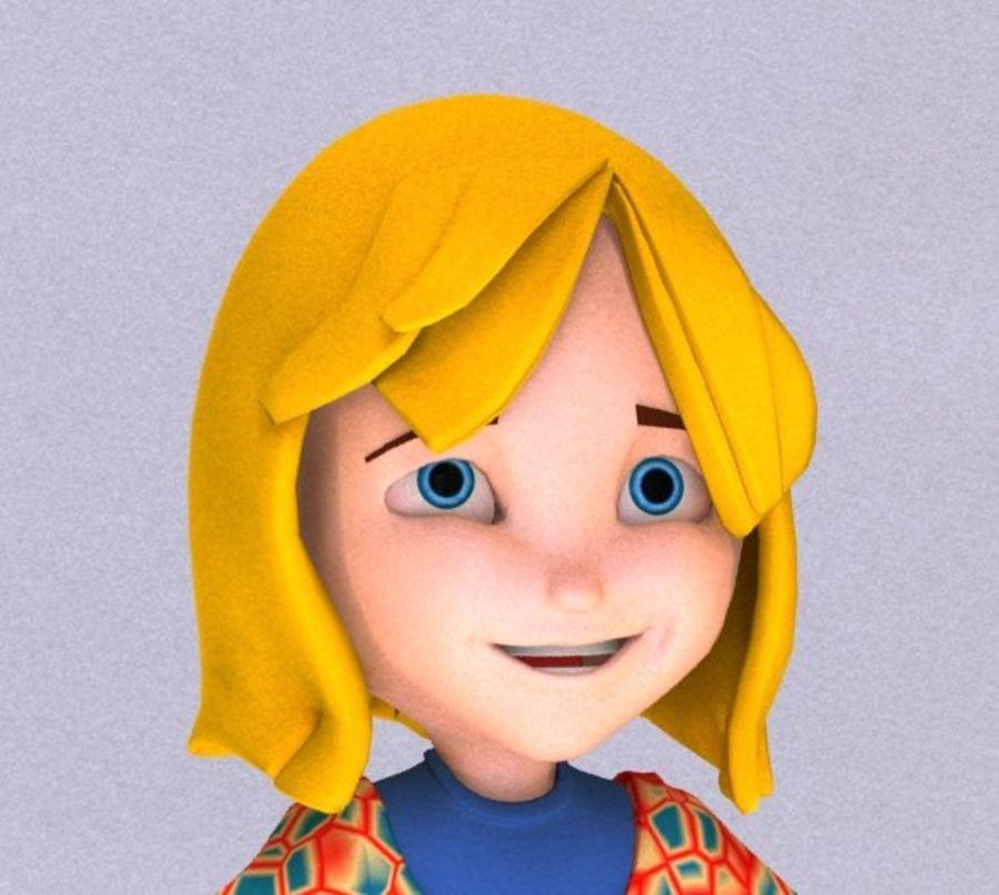 ragazza dei cartoni animati royalty-free 3d model - Preview no. 4