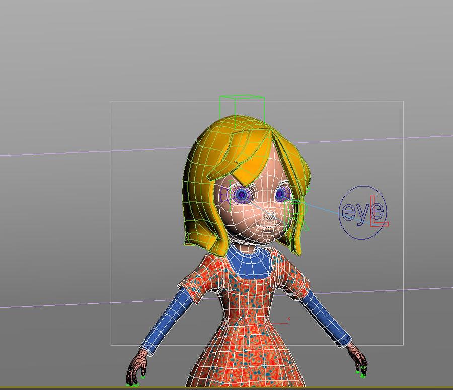 ragazza dei cartoni animati royalty-free 3d model - Preview no. 15