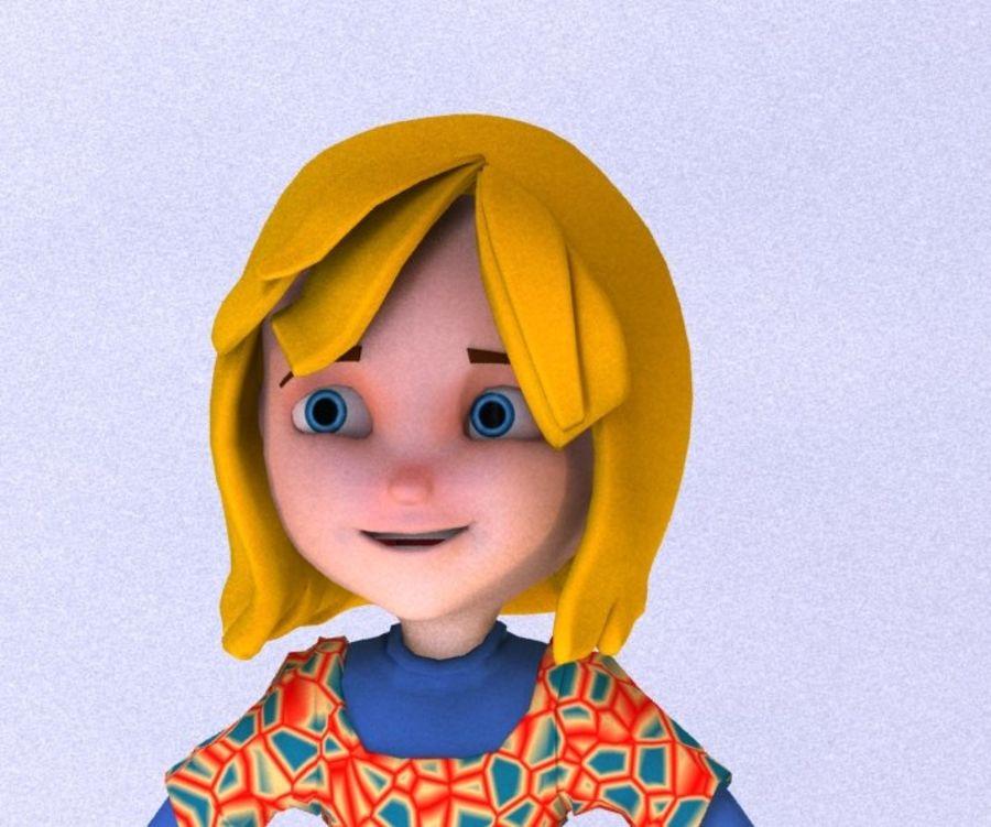 ragazza dei cartoni animati royalty-free 3d model - Preview no. 20
