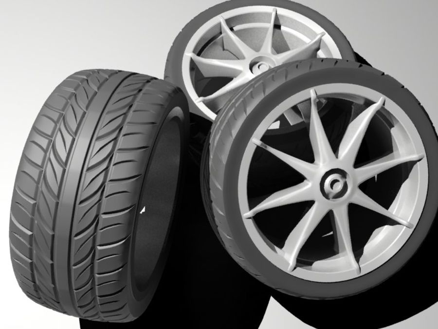pneu de carro royalty-free 3d model - Preview no. 2
