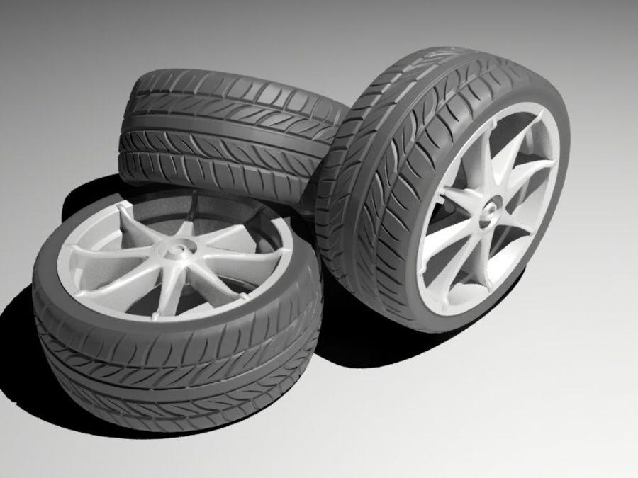 pneu de carro royalty-free 3d model - Preview no. 1