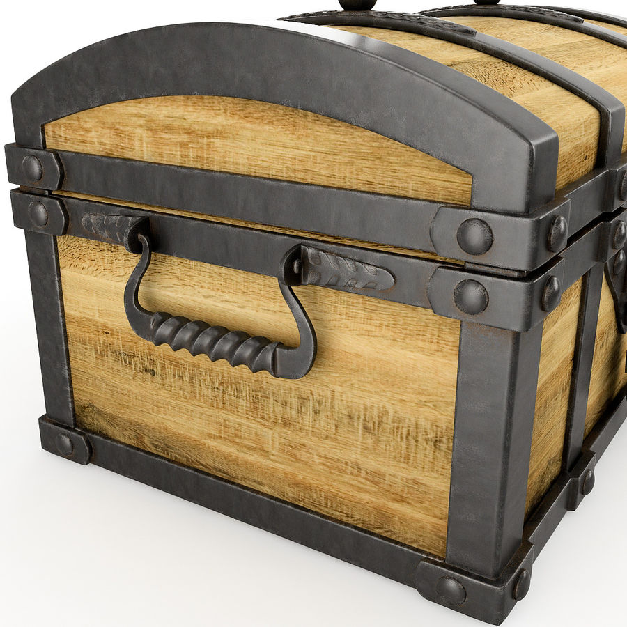 Chest Wood and Metal royalty-free 3d model - Preview no. 7