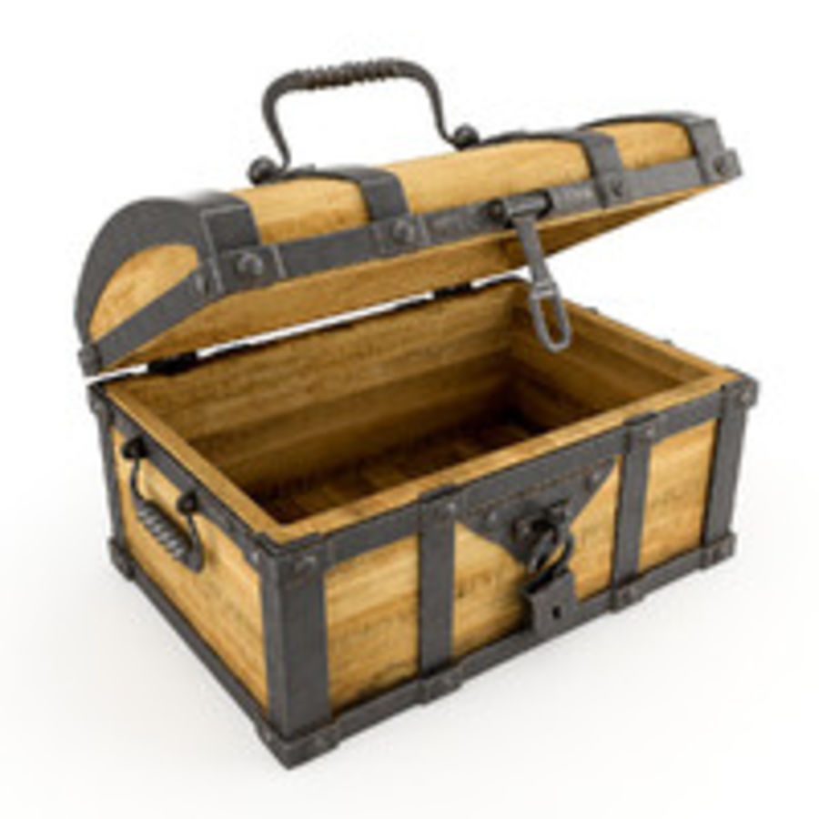 Chest Wood and Metal royalty-free 3d model - Preview no. 8