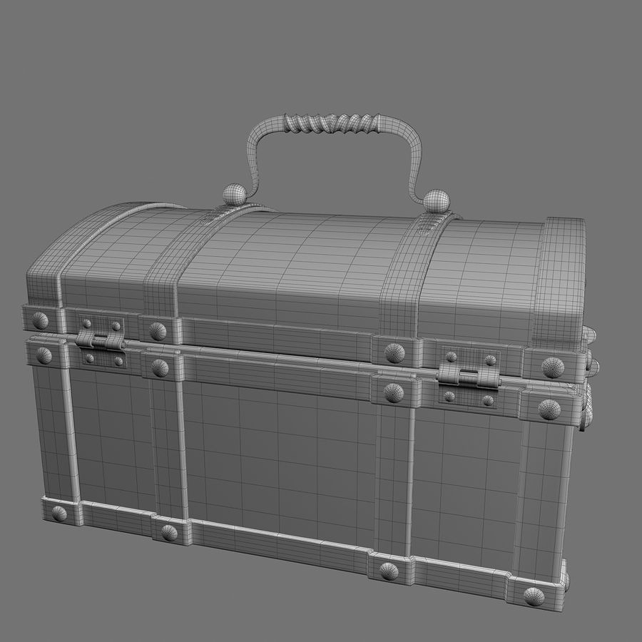 Chest Wood and Metal royalty-free 3d model - Preview no. 14